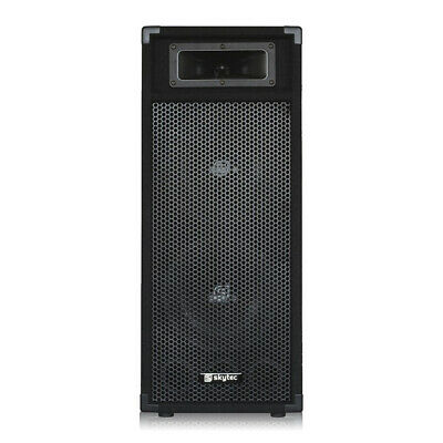 Double 8  Passive PA Speaker 2 Way Bass System 500w Loud Mobile DJ Disco Party • 46£