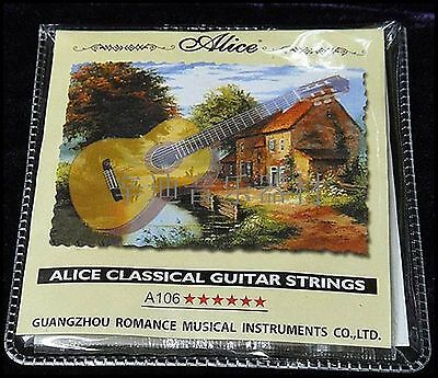 $ CDN3.81 • Buy Set Of Alice Classical Strings Clear Nylon Guitar Strings A106-H
