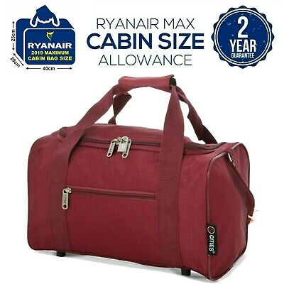 £9.99 • Buy 5 Cities 2020 Ryanair 40 X 20 X 25 Max Size Cabin Carry On Holdall Bag Case
