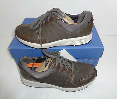 Rockport Ladies Grey Lace Up Leather Trainers Derby Shoes Womens New UK Size 4.5 • 37.98£