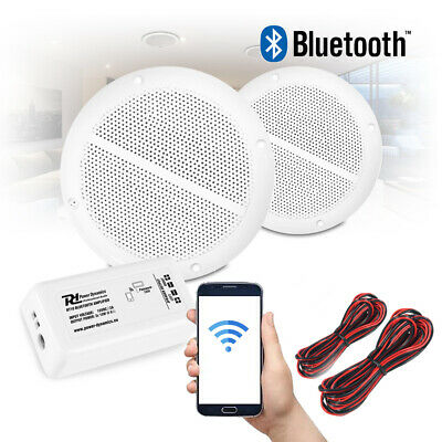 Bathroom Kitchen Ceiling Speakers And Wireless Bluetooth Amplifier System • 37£