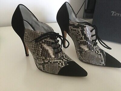Terry De Havilland Shoes Size 3 (36), Worn Once With Box Black/snake Skin • 70£