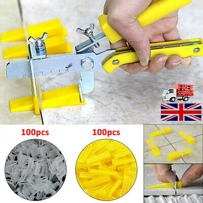 Large Tile Flooring Wall Leveling Spacer D Type System Pliers Tool +Clips Wedges • 5.19£