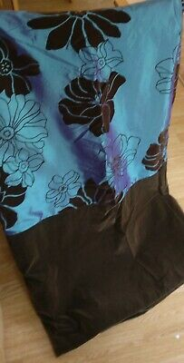£59.99 • Buy  GORGEOUS PAIR OF  MONTGOMERY  FLORAL DESIGN FULLY LINED CURTAINS/Velvet, Teal