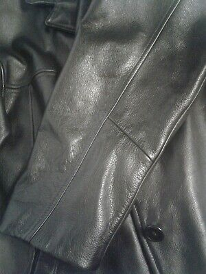 $ CDN29.99 • Buy Danier Distressed Genuine Leather Jacket Mens Small Tailored Fit Black