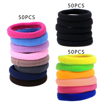 $1.99 • Buy 50Pcs Women Hair Ring Girl Hair Band Ties Elastic Rope Hairband Ponytail Holder