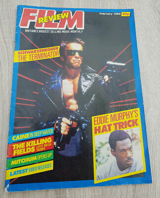 1985 FILM REVIEW Magazine Featuring Arnold Schwarzenegger The Terminator • 12£