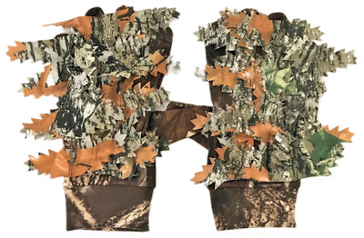 £7.90 • Buy Camo Ghillie Shooting Gloves Camouflage Hide Anti Slip Stalking Airsoft Sniper