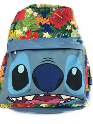 $20.99 • Buy 16  Lilo And Stitch Hawaiian Flowers All Over Print Backpack Back To School