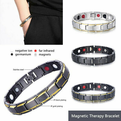 $6.99 • Buy New Men Women Therapeutic Energy Healing Magnetic Bracelet Therapy Arthritis