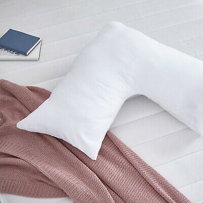 £2.99 • Buy V Pillow With Case Cover - Support For Pregnancy Maternity Nursing And Back