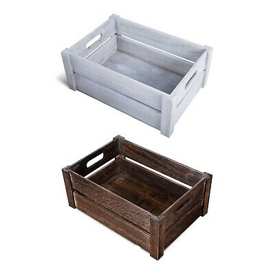 £9.99 • Buy Oval Handle Wooden Apple Crates Storage Box Display Tray Christmas Hampers