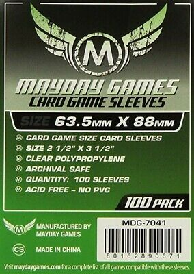 $4.67 • Buy MDG7041 Mayday Games Card Game Sleeves 63.5mm X 88mm Green (100)
