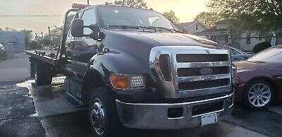 2007 ford f650 rollback wrecker tow truck !!! new engine and transmission !