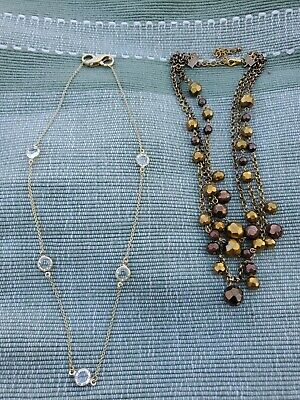 $ CDN10.03 • Buy Lot Of 2 Lia Sophia Necklaces