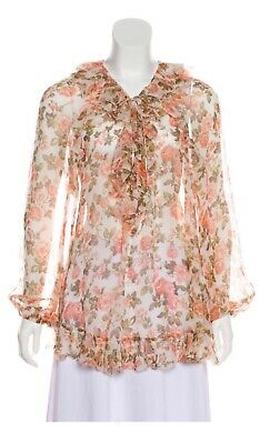 $245 • Buy Zimmermann Floral Silk Top Or Minidress Sz 3 Perfect Condition