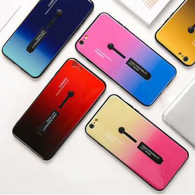 AU4.38 • Buy Rainbow Gradient Phone Case With Ring For Apple IPhone XR XS Max X 8 7 6S IPhon