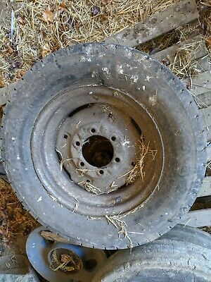 £60 • Buy Fordson Steel Front Wheel Rim With Car Tyre Holds Air