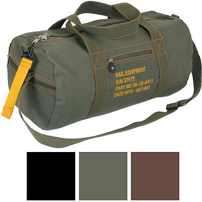 $20.99 • Buy Cotton Canvas Travel Equipment Flight Carry Duffle Shoulder Bag (Small Or Large)