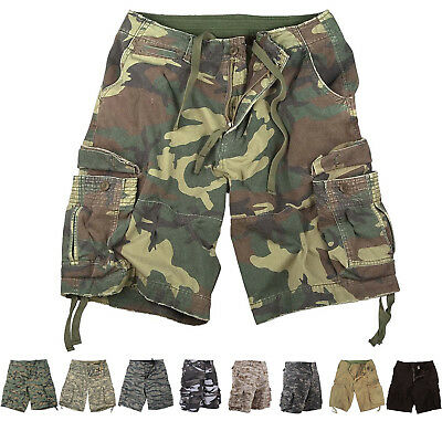 $45.99 • Buy Mens Vintage Camo Cargo Shorts, Army Military Tactical Infantry Utility Rugged