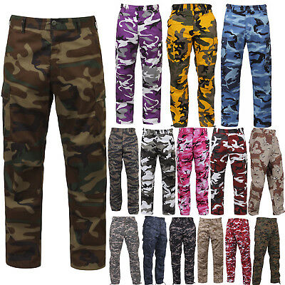 $37.99 • Buy Tactical BDU Pants Camo Cargo Uniform 6 Pocket Camouflage Military Army Fatigues
