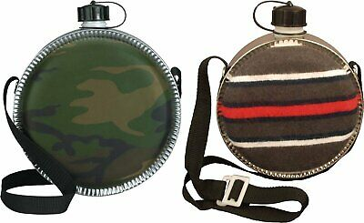 $ CDN15.01 • Buy 2 Quart Large Canteen With Carry Strap Water Bottle Travel Camping Hiking Camo