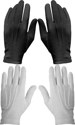 $39.99 • Buy 12 Pack Cotton Military Uniform Dress Parade Gloves With Snaps, White Or Black