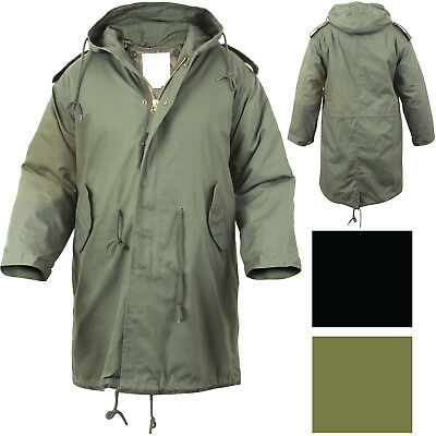 $99.99 • Buy Military M-51 Fishtail Parka Hooded Army Field Winter Jacket Long Tail Trench