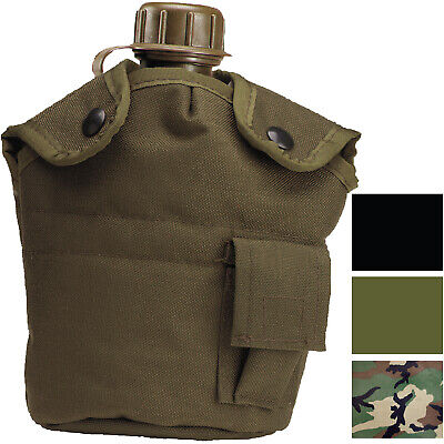 $ CDN18.14 • Buy Nylon Canteen Cover 1 Qt Clips Fleece Travel Outdoor Hiking Military Tactical