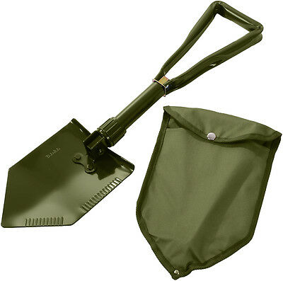 $17.99 • Buy Olive Drab Tri-Fold Military Emergency Compact Shovel With Cover