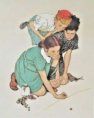 $ CDN1185.93 • Buy Norman Rockwell Marbles Lithograph