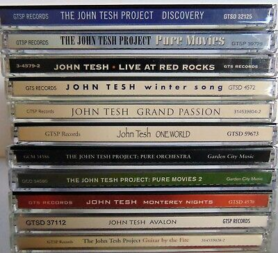 $ CDN17.99 • Buy Lot Of 11 CDs - JOHN TESH - (Project, Movies, Red Rocks, Winter, Passion)  VG