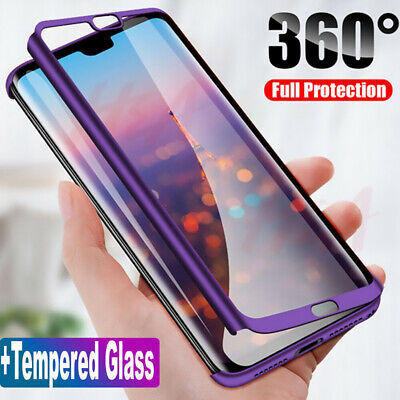 $0.99 • Buy For Xiaomi Redmi 7A 7 6A Note 8 7 6 5 Pro 360° Full Cover Case + Tempered Glass