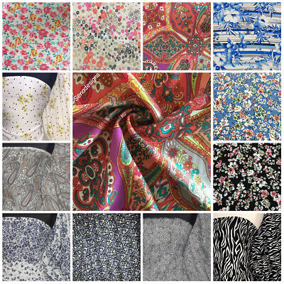 100% Light Weight Fabric Woven Non-Stretch Print Material FREE P&P • 6£
