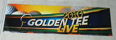$24 • Buy GOLDEN TEE 2010 LIVE GOLF   25 3/4 - 7   Arcade Game Sign Marquee CF12A