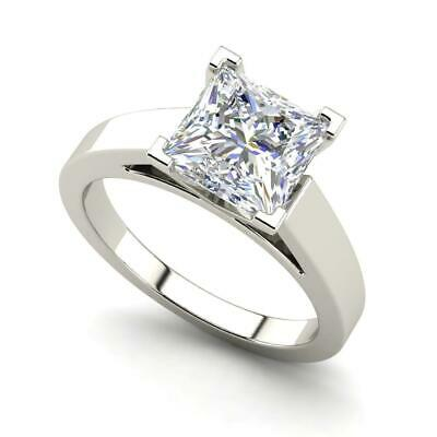 $1873.30 • Buy Cathedral 0.5 Carat VVS2/F Princess Cut Diamond Engagement Ring White Gold