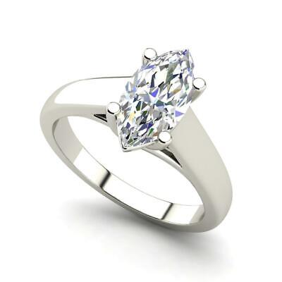 $1292.50 • Buy Solitaire 0.5 Carat VS1/F Marquise Cut Diamond Engagement Ring White Gold