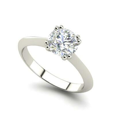 $980.60 • Buy Double Prong 0.5 Carat VS2/D Round Cut Diamond Engagement Ring White Gold