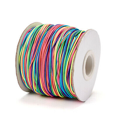 $ CDN14.74 • Buy 100m Round Elastic Fibre Cord Thread Jewelry Beading String Craft Colorful 1mm
