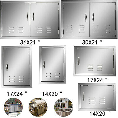Outdoor Kitchen / BBQ Island Stainless Steel Single Double Access Door With Vent • 41.97$