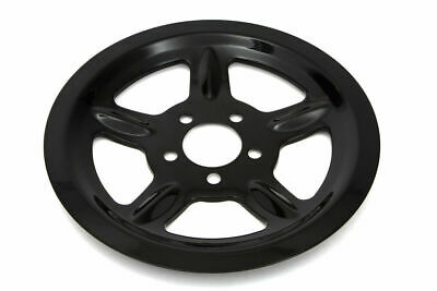 Black Rear Pulley Cover 68 Tooth For Harley Davidson By V-Twin • 52.99$