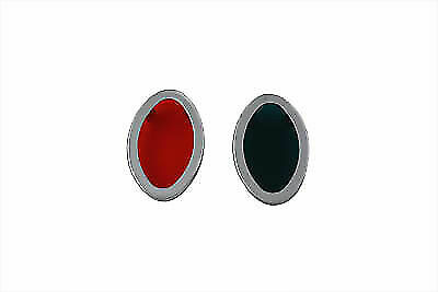 Chrome Cateye Dash Panel Lens Kit For Harley Davidson By V-Twin • 26.89£