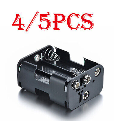 AU7.14 • Buy 4/5Pcs Plastic AAx6 / AA X 6 Battery Holder Box Case For 9V Battery With Snap