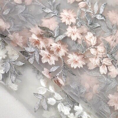 £15.99 • Buy Embroidery Evening Dress Lace Fabric Blossom Costume Show Dancing Wear Tulle 1 Y