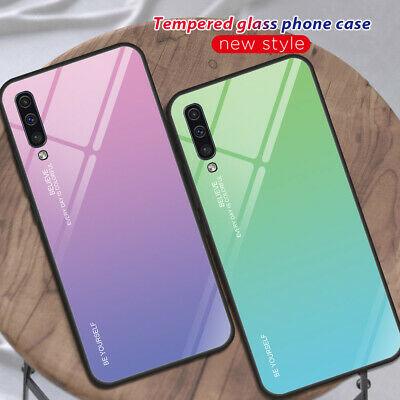 AU4.51 • Buy For Samsung Galaxy A50/70 S8/9/10 Gradient Tempered Glass Hard Back Case Cover