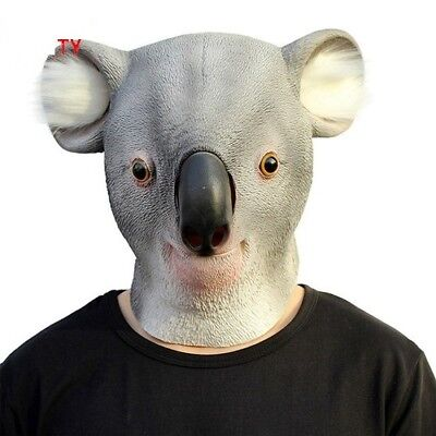 Animal Party Mask Koala Full Head Animal Halloween Masquerade Cosplay Costume • 8.99£