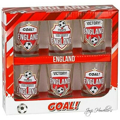 £8.90 • Buy ENGLAND Shot Glasses 6pc Bar Party Pub Euro Stag Fathers Day Football VODKA Goal