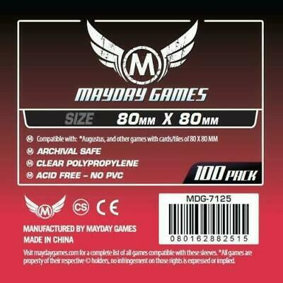 $4.85 • Buy MDG7125 MAYDAY GAMES Square Board Game Card Sleeves Clear Size 80 X 80mm 100ct