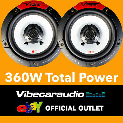 """£29.95 • Buy VIBE PULSE6-V4 - 16.5cm 6.5"""" 2-Way Coaxial Car Speakers 360 Watts Total Power BN"""