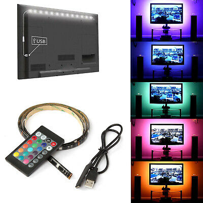 $6.48 • Buy 5V USB LED Strip Lights TV Back Light 5050 RGB Color Changing + Remote Control